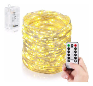 Luces Decorativas 50 Micro Led 5 Mts Control Remoto Exterior